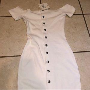 Ribbed Popper Dress